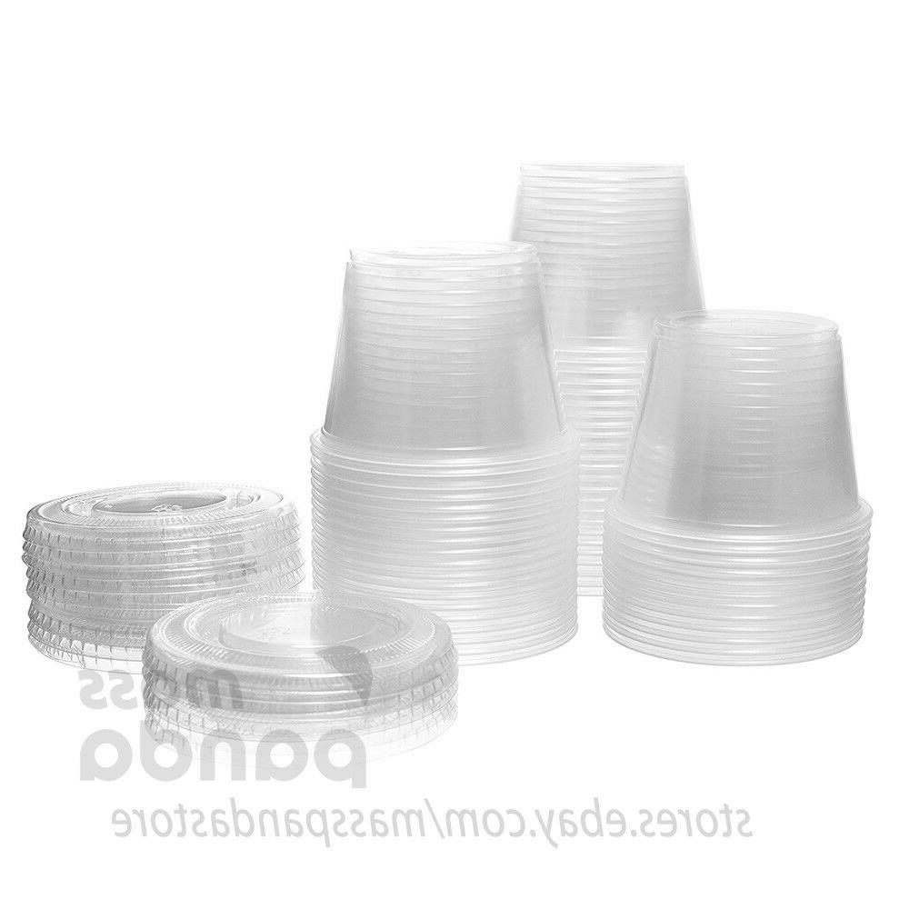 4 oz Large Cups Lids Clear