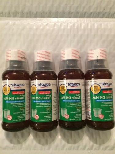 4 Pack Equate Adult Tussin DM Max Non Drowsy Age12+ Max Stre
