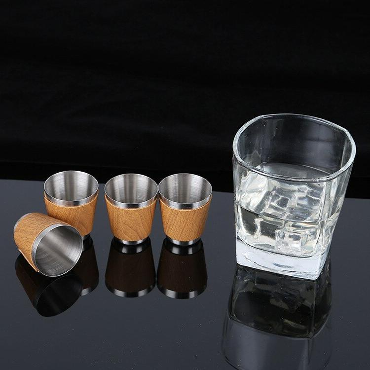 9 Flask Set Funnel and <font><b>4</b></font> Whiskey Wine Stainless Flagon For Gifts