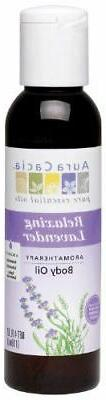 Aura Cacia Body Oil, Relaxing Lavender, 4 Fluid Ounce