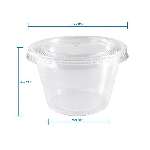 EDI Plastic Cup with Lids, Sets