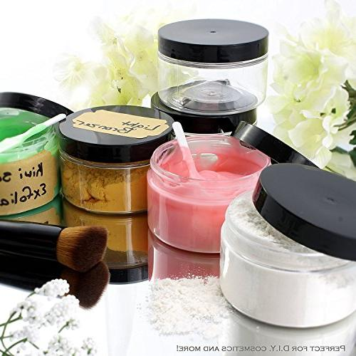 4oz with & ; Straight Sided PET Low Profile BPA-Free Containers Great Cosmetics, Kitchen, Gifts Travel