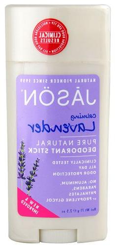 JASON NATURAL PRODUCTS DEOD STK,LAV,ALUM&PAR FR, 2.5 OZ