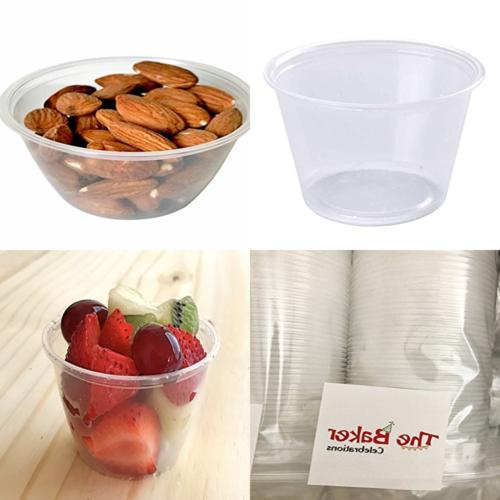 Disposable Souffle Portion Plastic Cups – 4 Oz Clear Food