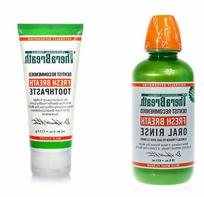 fresh breath 4 oz toothpaste and 16
