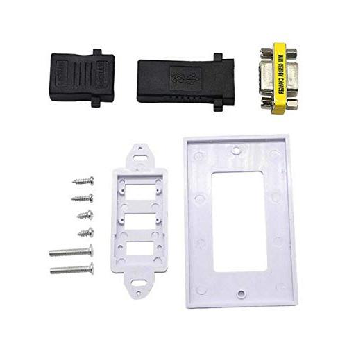 "Kework VGA Screw Plate, HDMI VGA Video Plate Socket Outlet, 45.3"" 29.5"", 1080P"