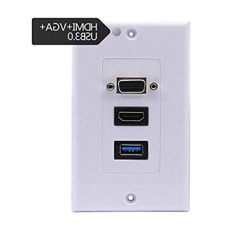 hdmi vga usb screw wall