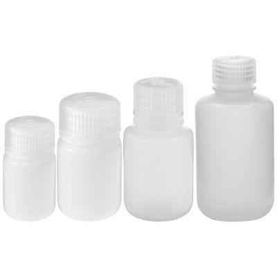 hdpe plastic narrow mouth storage bottle clear