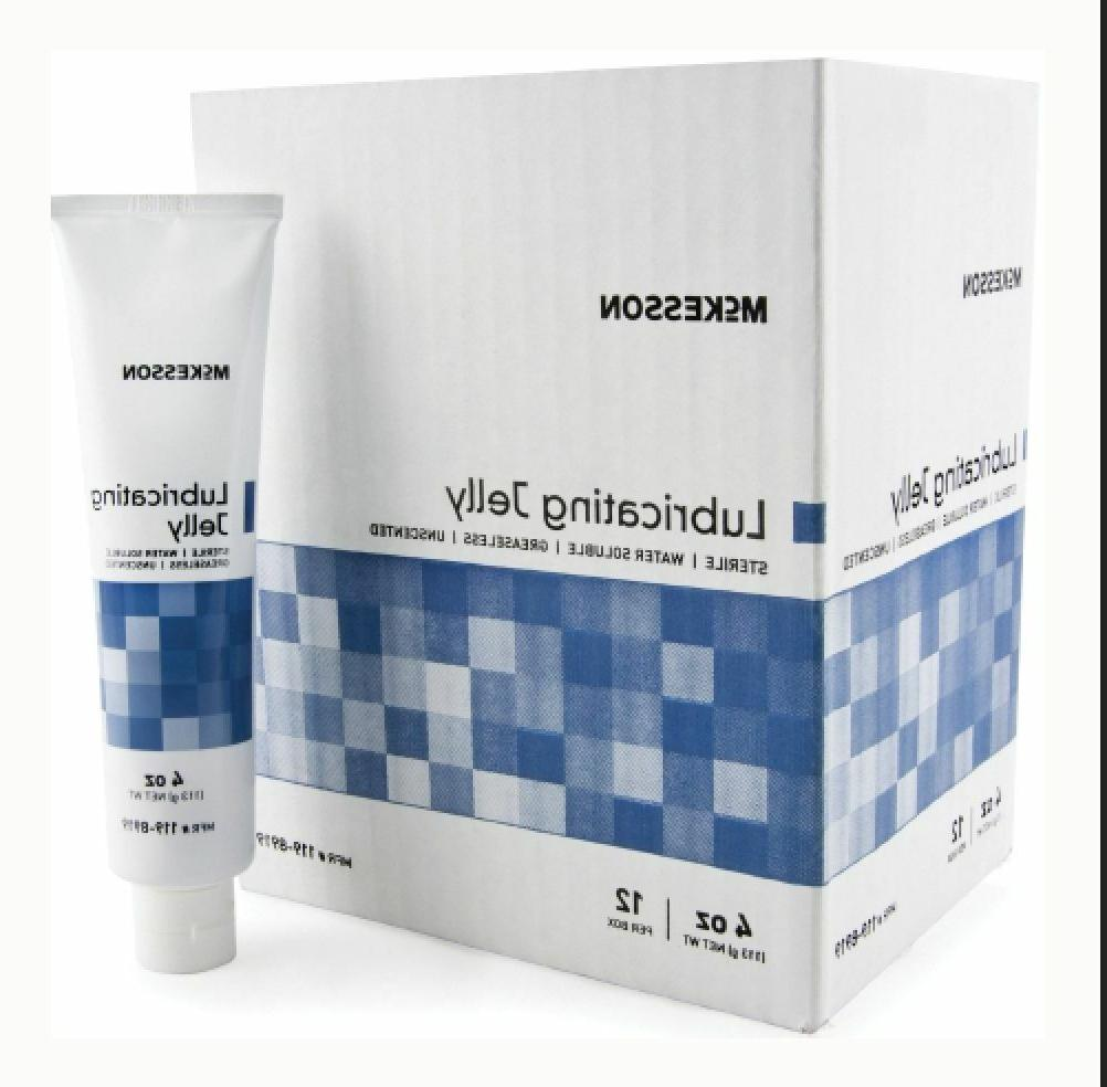 McKesson Lubricating Jelly 4 oz. Tube, Sterile, Box of 12 #1
