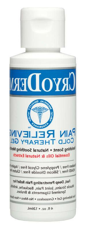 CryoDerm Cold Pain Relief Gel - 4 oz