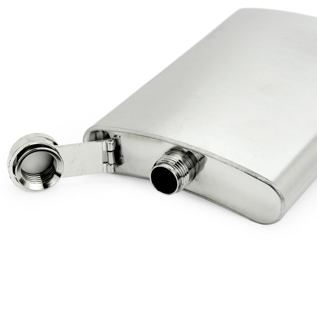 Portable <font><b>oz</b></font> Stainless Steel Wine Pot Liquor Whiskey Cap Flask for