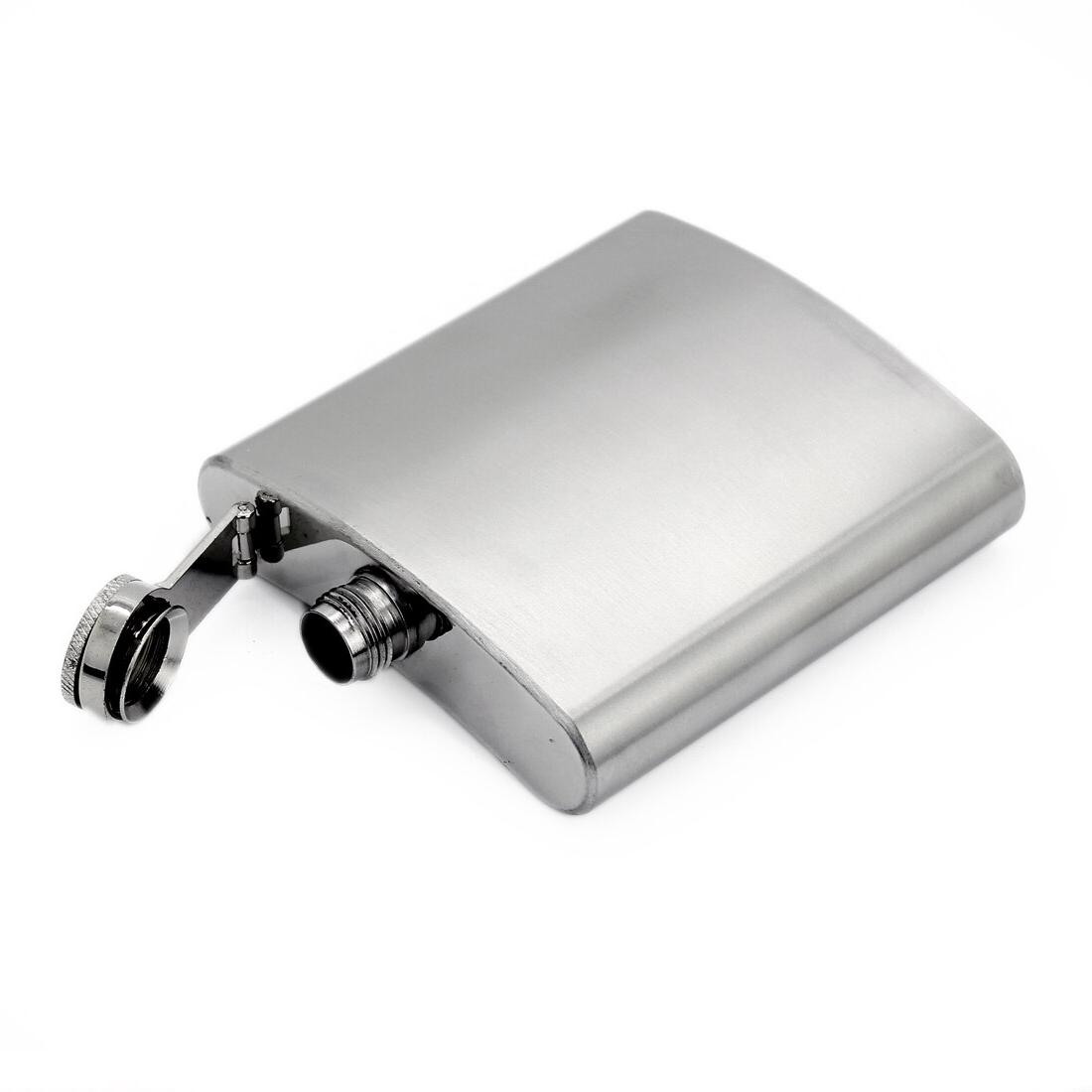 Portable <font><b>4</b></font>/5/6/7/8/10/18 <font><b>oz</b></font> Steel Wine Hip Cap Funnel Flask for Travel