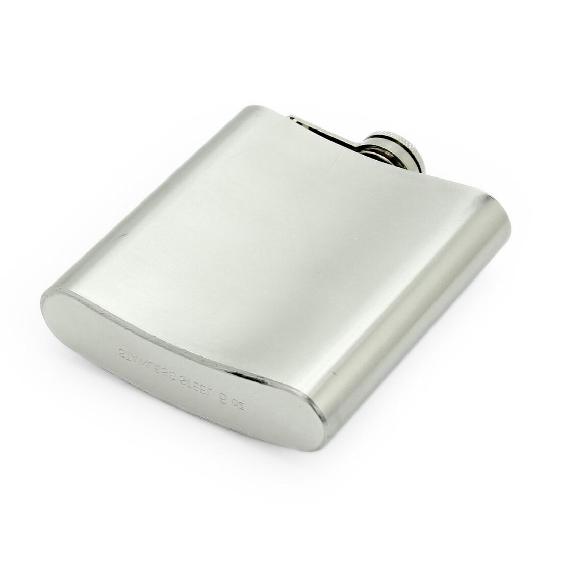 Portable Stainless Steel Liquor Whiskey Cap Flask