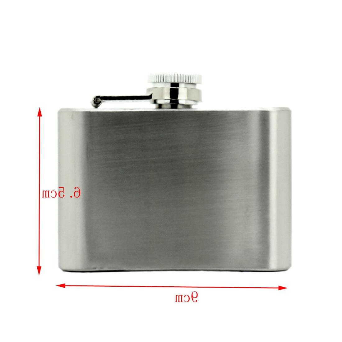 Portable Stainless Steel Flask 18 10 7 <font><b>oz</b></font> Alcohol Cap Wine Mug