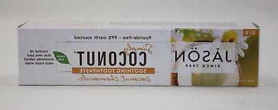simply coconut chamomile flouride free toothpaste