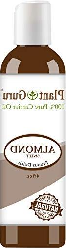 Sweet Almond Oil 4 oz. Cold Pressed Carrier 100% Pure Natura