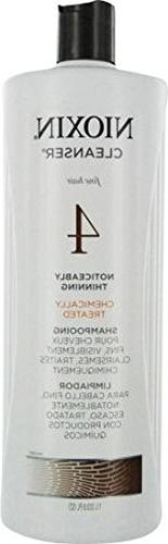 Nioxin By Nioxin System 4 Cleanser For Fine Chemically Enhan