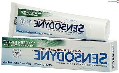 toothpaste fresh impact 4 oz reduce painful