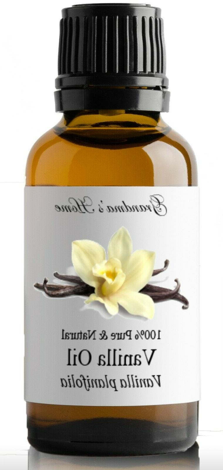 Vanilla Essential Oil - 100% Pure and Natural - Free Shippin