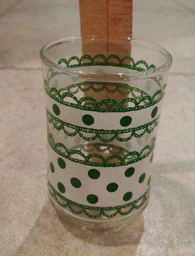 Libbey oz Juice Glasses white green Bolero 4