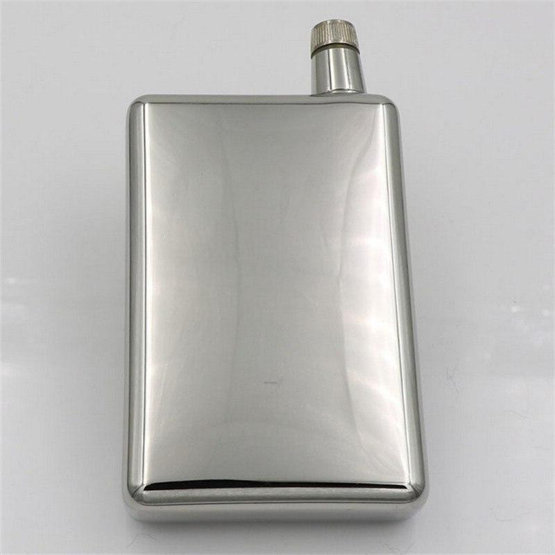 Vintage <font><b>4</b></font> <font><b>oz</b></font> Stainless Flask Shaped Small Wine