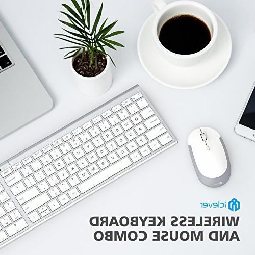 28e0aa5f893 iClever GK03 and 2.4G Keyboard Mouse, Rechargeable Ergonomic Design Size  Thin Connection DPI,