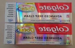LOT OF 2 COLGATE TOTAL ADVANCED DEEP CLEAN FLUORIDE TOOTHPAS