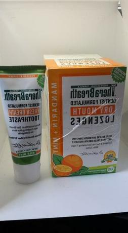 TheraBreath Mandarin Mint Fresh Breath Mouth Wetting Lozenge