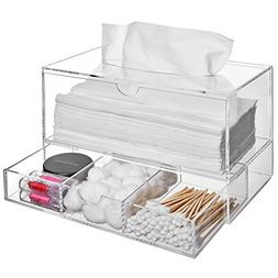 Modern Clear Acrylic Countertop Pull Out Storage Drawer / Co