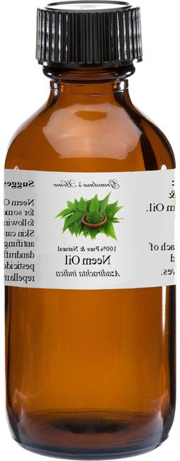 Neem Oil - 4 oz - 100% Pure and Natural - Free Shipping - US