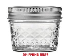One 4oz Ball Mason Jar Lids Bands Canning Quilted Spice Jell