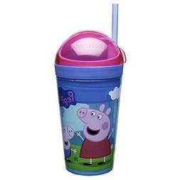 Zak Designs Peppa Pig Holds 4 oz. Snack and 10 oz. Drink, Pe