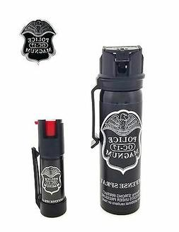 POLICE MAGNUM Pepper Spray 4 oz Ounce Safety Flip Top Belt C
