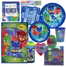 PJ MASKS Birthday Plates Napkins Cups Tablecover Banner Favo