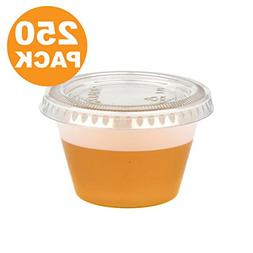 4 Ounce BPA-Free Plastic Portion Cup with Clear Lids Dispos