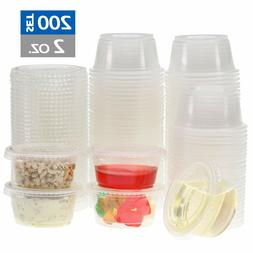 Freshware Plastic Portion Cups with Lids  Souffle Jello Shot