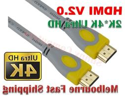 HDMI v2.0 Cable 4K*2K @60Hz 2160p 3D UltraHD HD HighSpeed Co