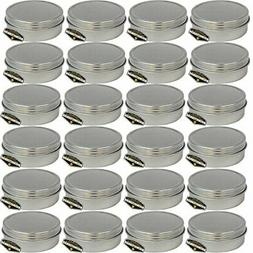 Mighty Gadget  4 oz Round Tins Screw Lid Container
