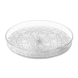 InterDesign Rain Lazy Susan Turntable Cosmetic Organizer for