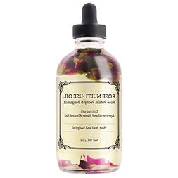 Rose Multi-Use Oil for Face, Body & Hair - Hydrates Skin & R
