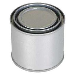 VESTIL MRC-4 Round Metal Can, 4 oz, With Lid