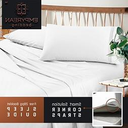 Premium Full  Size Sheets Set - White Hotel Luxury 4-Piece B