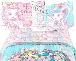 Shoppies So Sweet Comfortable Girls Bedding Set Multicolored