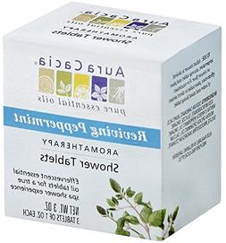 Aura Cacia Reviving Peppermint Aromatheraphy Shower Tablet,