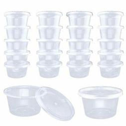 DOMIRE 60 Pack 4 oz Slime Containers with Lids, Clear Leakpr