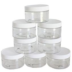 4oz Slime Storage Favor Jars  with labels - Clear empty wide