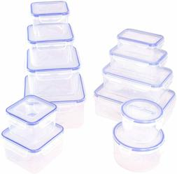 AIR TIGHT LOCK LIDS PLASTIC FOOD Storage CONTAINERS BPA FREE