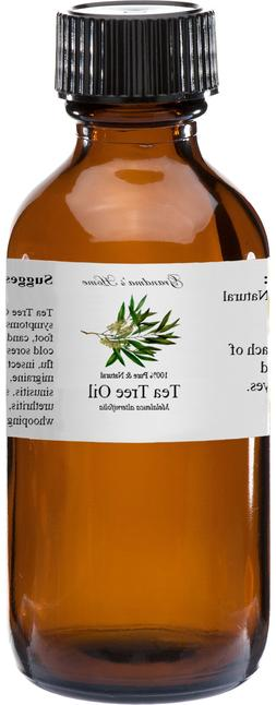 Tea Tree Essential Oil - 4 oz - 100% Pure and Natural - Free