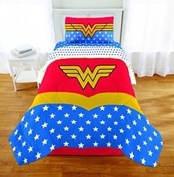 4 Piece Twin size Wonder Woman Bedding Set Includes 3pc Twin