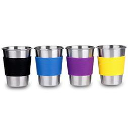 Unbreakable Metal Kids Drink Cups 11 oz Stainless Steel Drin